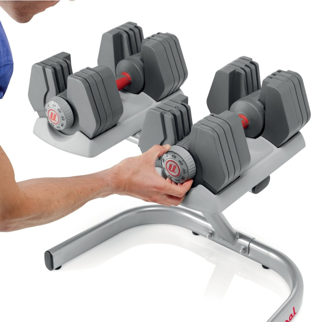 Universal Universal PowerPak Adjustable Dumbbells with Stand - 4-45 lbs