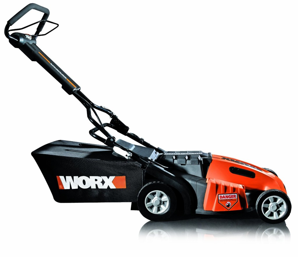 WORX WG788 19-Inch 36 Volt Cordless 3-In-1 Lawn Mower With Removable Battery IntelliCut