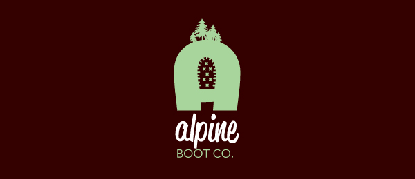design alpine boot company logo