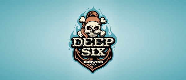 anchor logo design examples deep six brewery https://toppersworld.com/30-cool-anchor-logo-designs-for-inspiration/