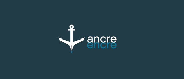 ancre encre anchor logo design examples https://toppersworld.com/30-cool-anchor-logo-designs-for-inspiration/