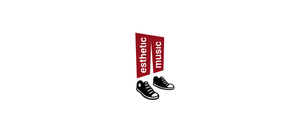 design black shoe logo esthetic music
