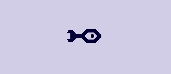 blue rocket logo fish wrench 28