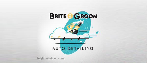 car logo design cloud wedding 2