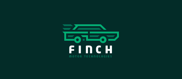 car logo design finch motor tech 1