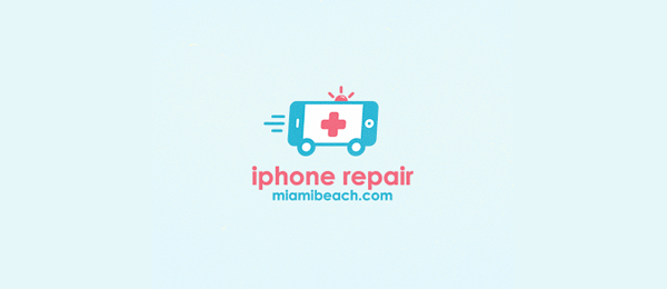 car logo design iphone repair 3