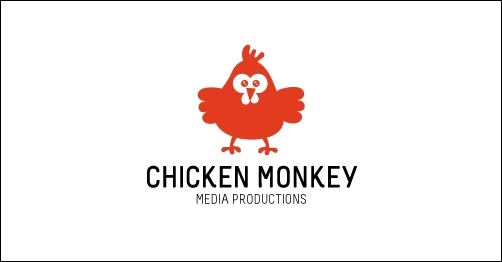 logo design chicken-monkey-