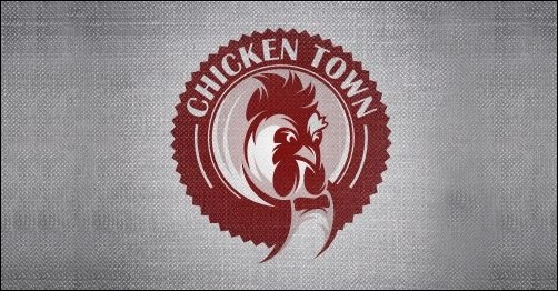 logo design chicken-town-