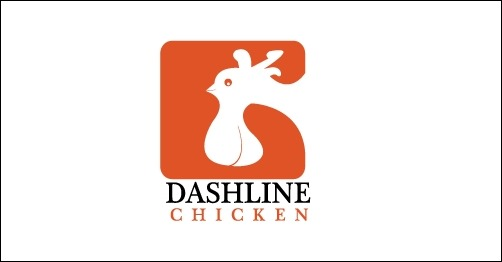 logo design dashline-chicken-