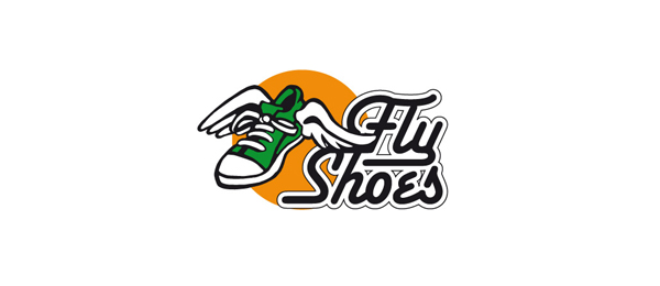 design fly shoes logo
