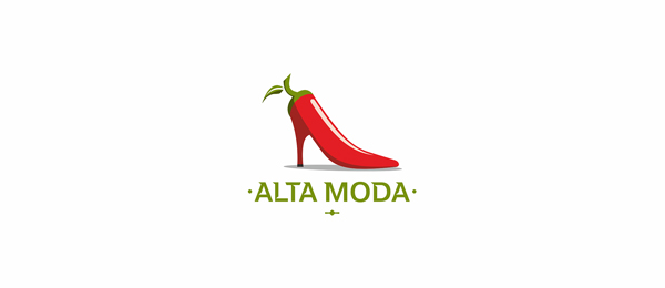 design italian shoes logo alta moda