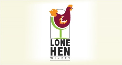logo design lone-hen-winery-