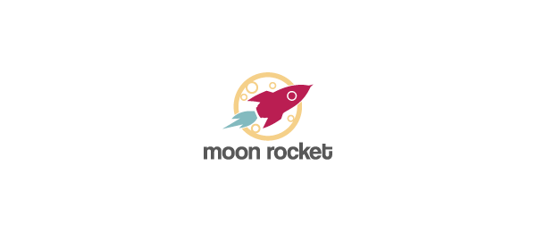 moon rocket logo design 23