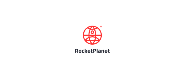 red rocket planet logo 15