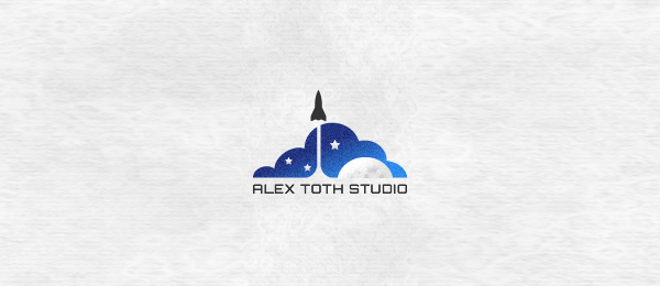rocket logo design 7