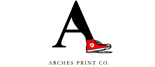 design shoe logo arches print