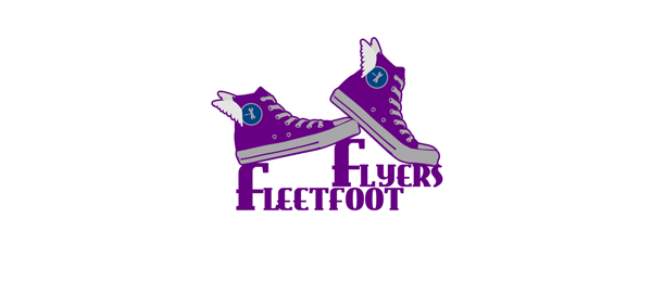 design shoe logo fleetfoot flyers
