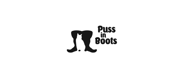 design shoe logo puss in boots