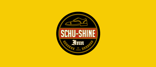 design shoe logo schu shine inn