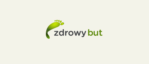 design shoe logo zdrowy but