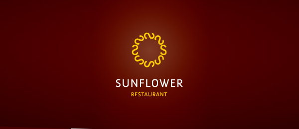 design sun flower logo idea 24