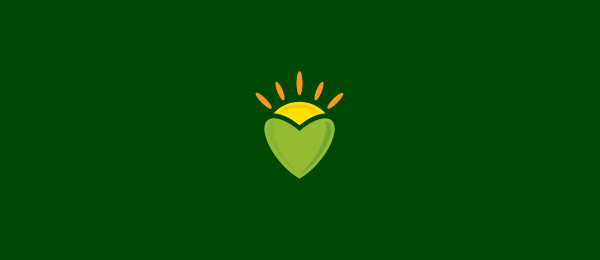 design sun heart logo idea 58