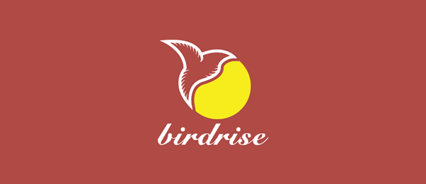design sun logo bird rise 41