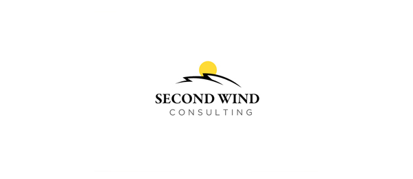 design sun logo second wind consulting 46