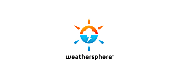 design sun logo weather sphere 7
