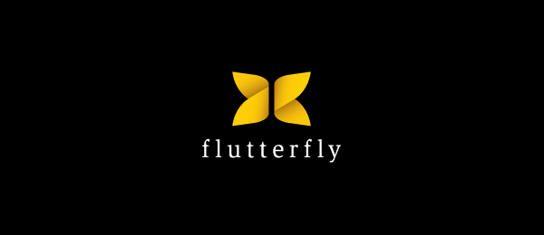 yellow butterfly Design logo 6
