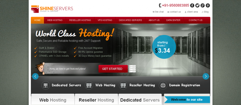 Affordable Managed Web Hosting & Dedicated Servers Hosting From ShineServers