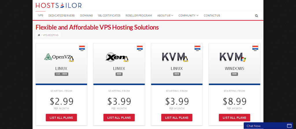 Flexible VPS Hosting I Fast Netherlands VPS Servers – HostSailor