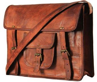 HandMadeCart's Rugged Grunge Leather Messenger Bag