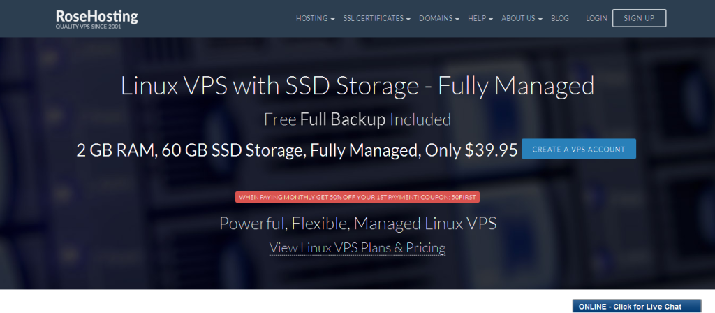 Linux VPS I Best Managed Linux VPS Hosting - RoseHosting