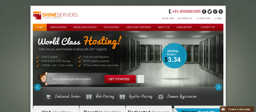Order Affordable Managed Web Hosting & Dedicated Servers Hosting From ShineServers