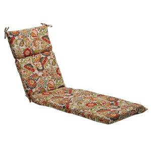 Pillow Perfect's Floral Chaise Lounge Cushions, Multicolored