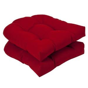 Pillow Perfect's Wicker Seat Solid Cushions 2-Pack