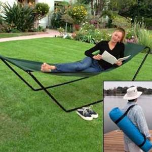 THE PORTABLE FOLD-AWAY HAMMOCK