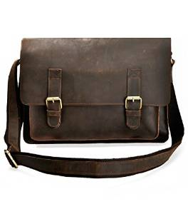 ZLYC's Vintage HANDMADE Messenger Bag for Men