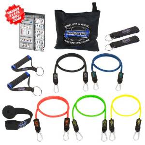 Bodylastics' 12 pcs Resistance Bands Set