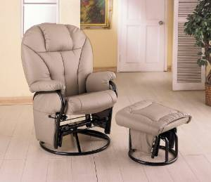 Coaster's Swivel Glider plus Ottoman