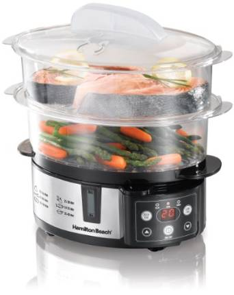 Hamilton Beach's Two-Tier Digital Food Steamer