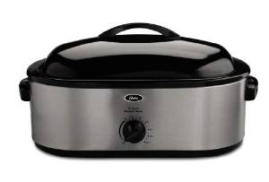 Osters 18 Quart Roaster Oven With Three Removable Pans