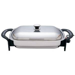 "Precise Heat's 16"" Rectangular Electric Skillet"