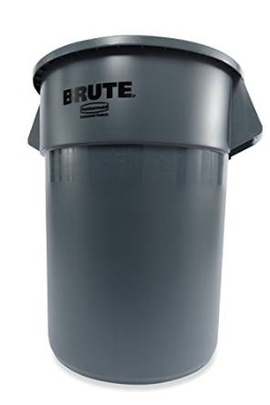 Rubbermaid's FG265500GRAY Trash Can without Lid