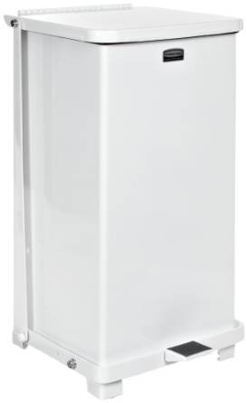 Rubbermaid's FGST12EPLWH Commercial Trash Can