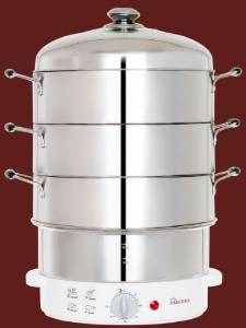 Secura's 6-Quart 3-Tier Electric Food Steamer