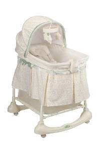 Emerson's 2-in-1 Cuddle 'N Care Kolcraft Bassinet with Incline Sleeper