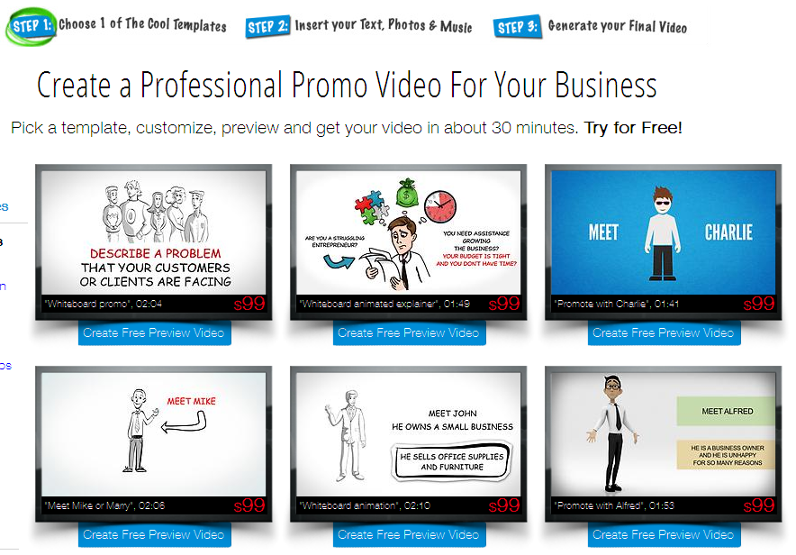 Make Your Own Business Video - Cheap Animated Promo Videos