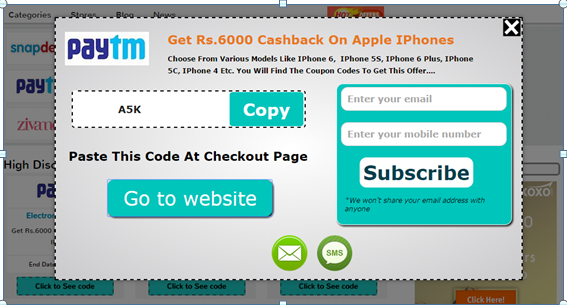 Discount coupons for paytm